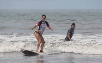 Surfing at Tamarindo